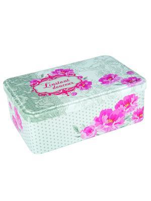 Контейнер для хранения сахара 20х13х7 см Пионы Orval. Цвет: белый, серый, розовый