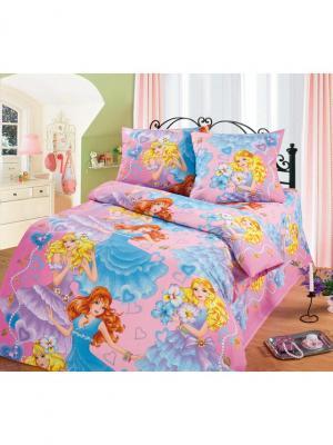 Комплект постельного белья для детей и подростков ДайПоспать 1,5 спальный Традиция. Цвет: голубой, желтый, розовый