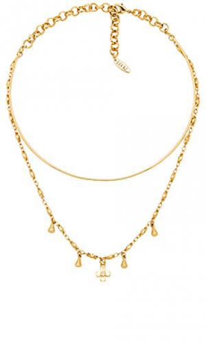 Ожерелье cosmic cross tie Luv AJ. Цвет: золотой