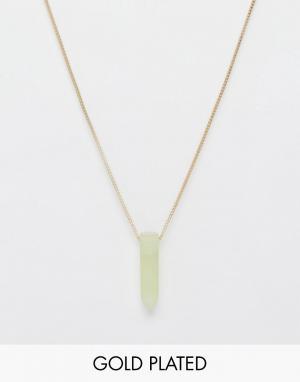 Pilgrim Ожерелье с полудрагоценным камнем. Цвет: золотой