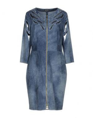 Платье до колена JITROIS. Цвет: пастельно-синий