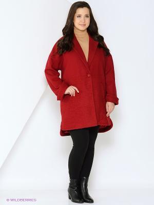 Пальто Fiorella Rubino. Цвет: бордовый