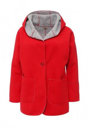 Пальто Besh. Цвет: красный