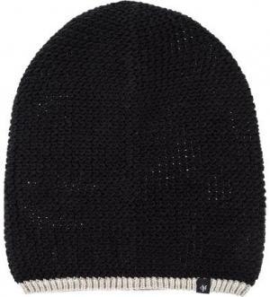 Черная шапка мелкой вязки Marc O'Polo. Цвет: черный