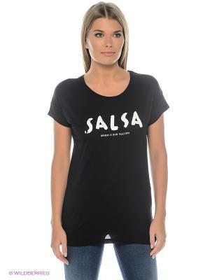 Футболка FRANCE Salsa. Цвет: черный
