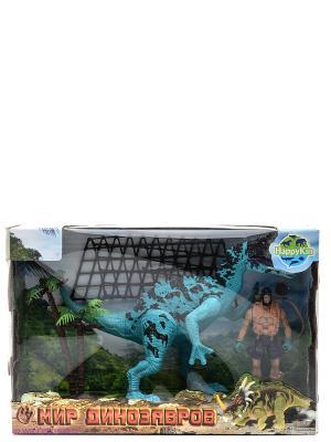 Набор динозавров Happy Kin. Цвет: голубой