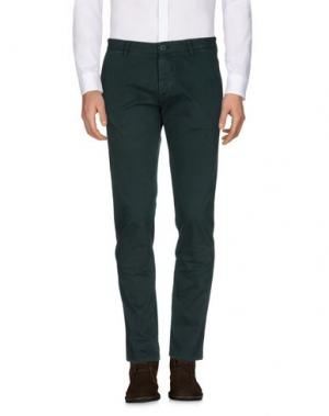 Повседневные брюки OFFICINA 36. Цвет: темно-зеленый