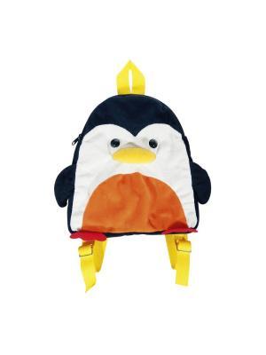 Сумка-рюкзак детская Пингвин Fancy. Цвет: белый, черный, желтый