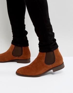 New Look Светло-коричневые ботинки челси из искусственной замши. Цвет: коричневый