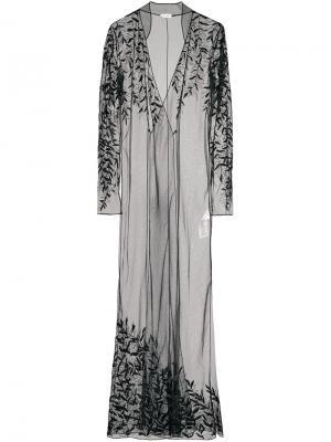 Платье с кружевным слоем Attico. Цвет: чёрный