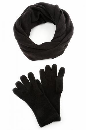 Набор: перчатки, шарф HELENA VERA. Цвет: черный
