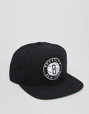 Mitchell & Ness Бейсболка Brooklyn Nets. Цвет: черный