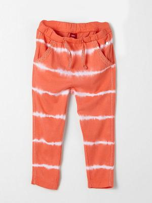 Брюки S.OLIVER. Цвет: коралловый, белый, оранжевый