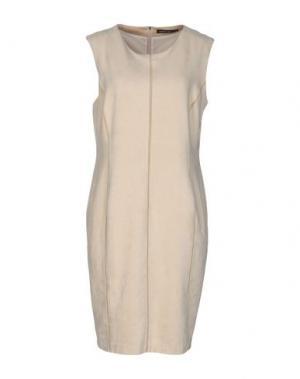 Платье до колена MARC CAIN. Цвет: бежевый