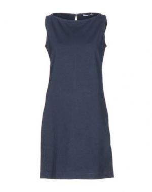 Короткое платье CIRCOLO 1901. Цвет: темно-синий