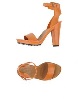 Сандалии TOD'S. Цвет: оранжевый