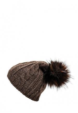 Шапка Fete. Цвет: коричневый