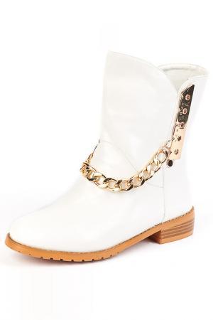 Ботинки Norka. Цвет: белый