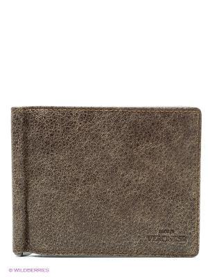 Зажим для денег Paolo Veronese. Цвет: серо-коричневый