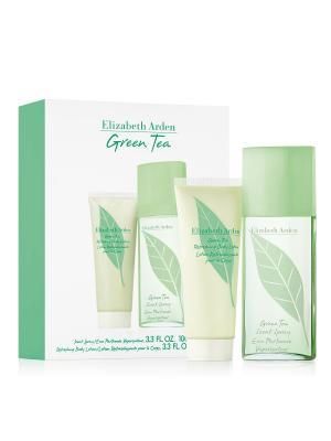 Green Tea Набор Парфюмерная вода 100 мл + лосьон для тела ELIZABETH ARDEN. Цвет: прозрачный