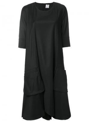 Расклешенное трикотажное платье Ultràchic. Цвет: чёрный