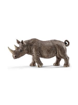 Животные из зоопарка. Носорог SCHLEICH. Цвет: серый
