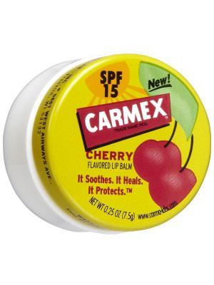 Бальзам для губ Carmex вишня защита SPF-15 в баночке 7,5 г. Цвет: желтый