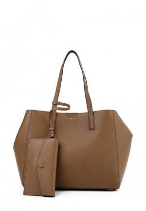 Сумка DKNY. Цвет: коричневый