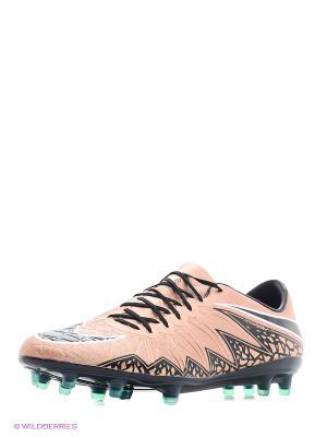 Бутсы HYPERVENOM PHINISH FG Nike. Цвет: бледно-розовый