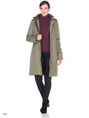 Пальто INKERI Maritta. Цвет: оливковый