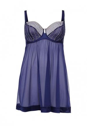 Сорочка ночная Curvy Kate. Цвет: синий