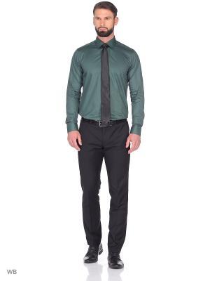 Рубашка KARFLORENS. Цвет: темно-зеленый