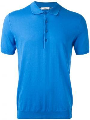 Классическая футболка-поло Paolo Pecora. Цвет: синий
