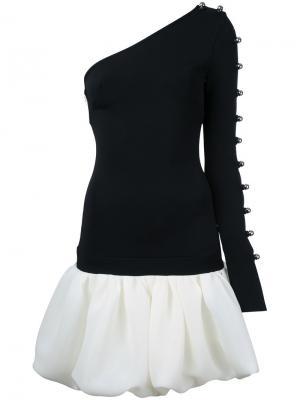 Платье на одно плечо David Koma. Цвет: чёрный