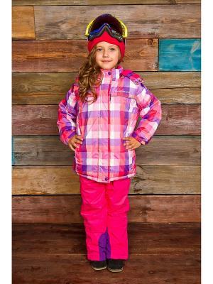 Куртка Sweet Berry. Цвет: красный, белый, коралловый, розовый, сиреневый