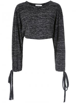 Long sleeves cropped top Giuliana Romanno. Цвет: чёрный