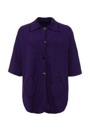 Пончо Milana Style. Цвет: фиолетовый