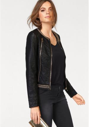 Куртка MELROSE. Цвет: черный