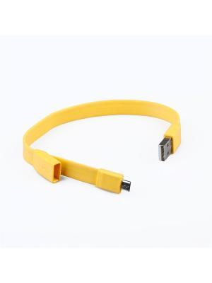 Usb кабель Pro Legend Micro браслет, 25см., желтый. Цвет: желтый
