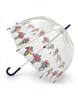 Зонт-трость Цветочные горшки  by Fulton Cath Kidston. Цвет: синий