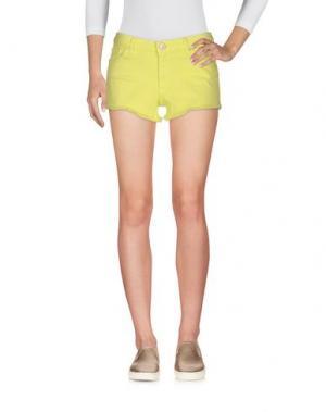 Джинсовые шорты KOCCA. Цвет: желтый