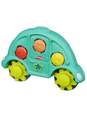 Машинка  Возьми с собой Hasbro. Цвет: бирюзовый, красный, желтый