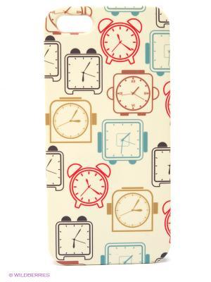 Чехол для IPhone 5 Будильники Mitya Veselkov. Цвет: бежевый, красный, голубой