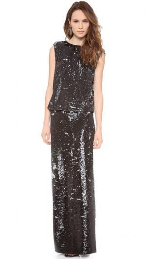 Вечернее платье Colette с блестками Rachel Zoe. Цвет: голубой