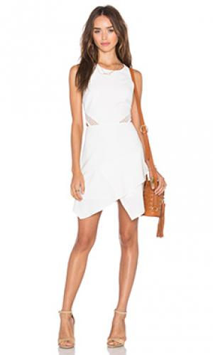 Платье connected NBD. Цвет: белый
