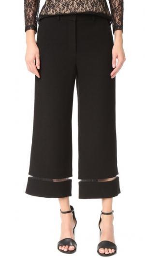 Укороченные брюки с леской отделкой Alexander Wang. Цвет: голубой
