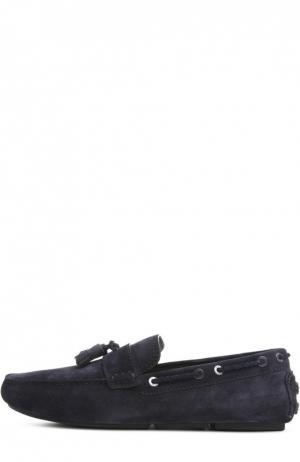 Замшевые топсайдеры с кисточками Biarritz Brioni. Цвет: темно-синий
