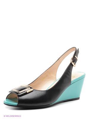 Босоножки Moda Donna. Цвет: черный, зеленый