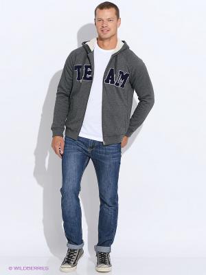 Толстовка M COL SHRP ZHDY Adidas. Цвет: серый, голубой