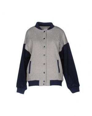 Куртка WEILI ZHENG. Цвет: светло-серый